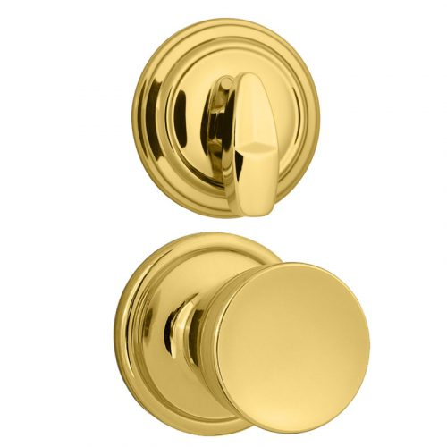 Kwikset 966 A 3 Abby Knob Signature Series Polished Brass Interior Pack