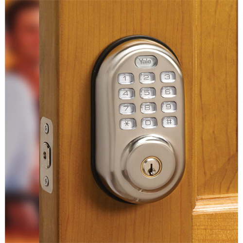 Yale Real Living Push Button Deadbolt YRD210NR-619