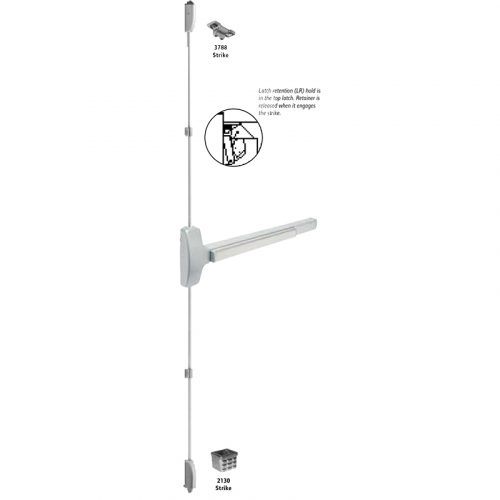 Falcom 25-V-EO 3 32D Satin Stainless Steel Exit Device