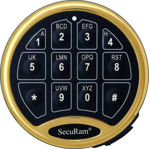SecuRam SafeLogic Basic EC-0601ABR Brass Keypad for Safe