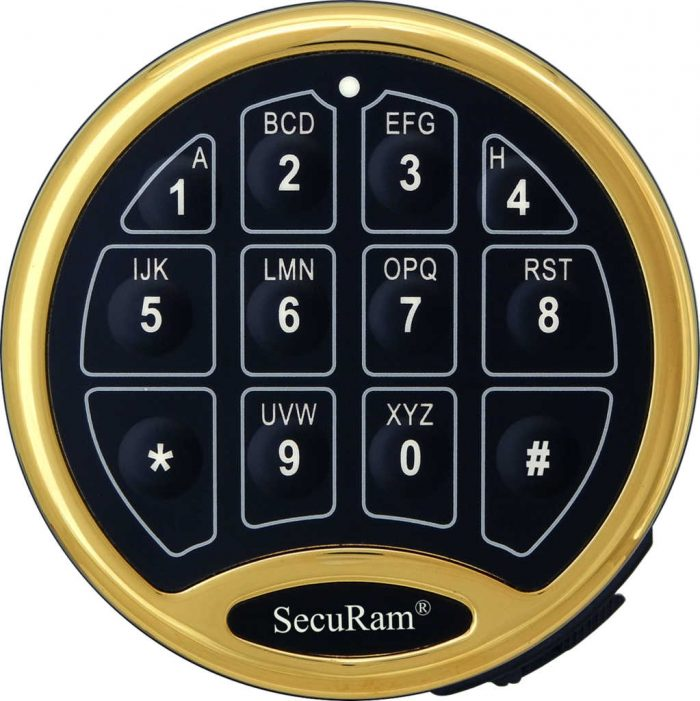 SecuRam Safe Logic Basic Brass Keypad