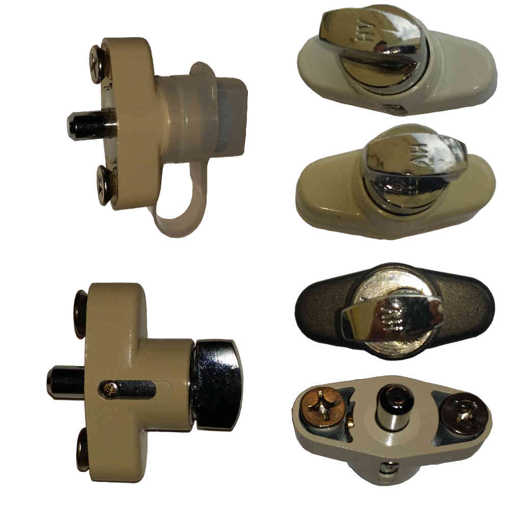 Accordion Shutter Lock Thumbturn Push Lock County