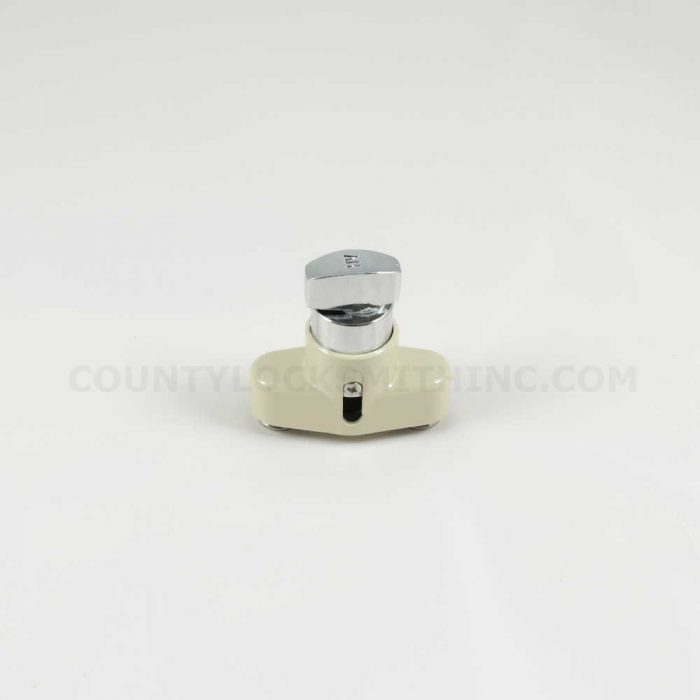 Accordion Shutter Push Lock Thumbturn Beige