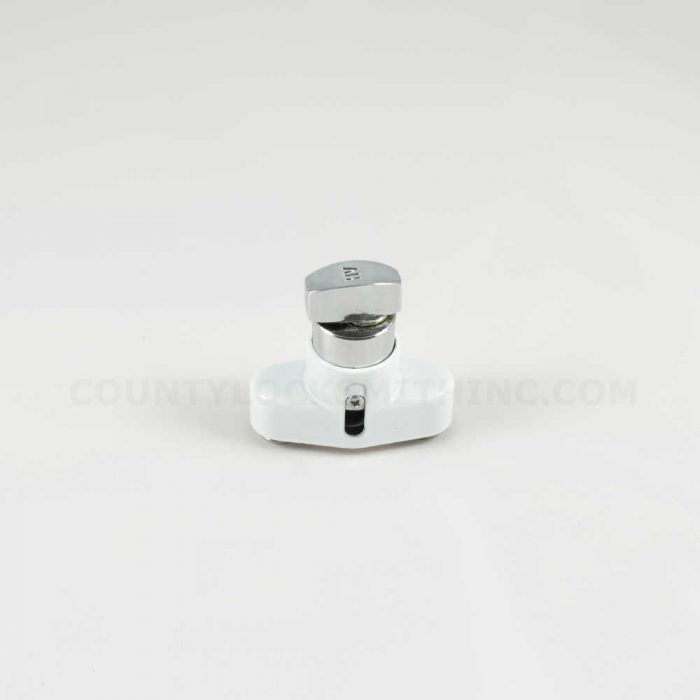 Accordion Shutter Push Lock Thumbturn White